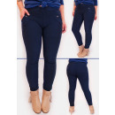 FL666 Elegant Plus Size Pants, Decorative Buttons