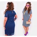 BI736 Classic Dress with Bow, Plus Size