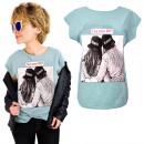 groothandel Kleding & Fashion: K598 katoenen T-Shirt , top, Tag je BFF! Munt