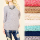 wholesale Pullover & Sweatshirts: C11371 Hairy Sweater, Warm Tunic, Sequins