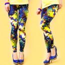 Großhandel Hosen: 4441 Spring Leggings, Hose, Muster mit Vögeln