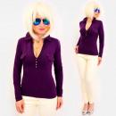 Großhandel Hemden & Blusen: 4585 Daily Bluse, Damen Top, Kragen & V-Aussch