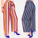 C17681 Damen Striped Pants, Lose & Chic Line