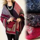 FL264 hermoso, bufandas, ponchos, Capa, COLORES