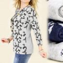 wholesale Shirts & Blouses: C1192 NICE, WARM  BLOUSE, TUNIKA, MODEL In BUTTERFL