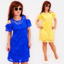 BI793 Lace Dress, Neckline Heart, Frills