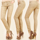wholesale Jeanswear: B16556 Outstanding Jeans, Tubes, Animal Pattern