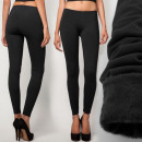 3725 black  leggings, WARMING: fur MIX
