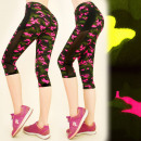 Großhandel Sportbekleidung: Damen Fitness Leggings, 3/4, Moro, S-XL, C17744