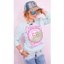hurtownia Fashion & Moda: A809 Sportowa Bluza Damska, Nadruk California 68