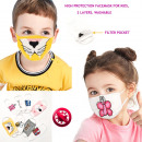 wholesale Toys: Kids Protective Mask, Pocket For Filter, 4-10, D58