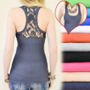Großhandel Shirts & Tops: D2611 UROCZY TOP, BLUSE, BOXER, LACE BACK