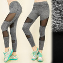 FL483 Sport Leggings, Fitness Pants, Mesh Inserts