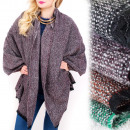 B16595 Plaid XXL, Winter Schal, Wolle, Melange