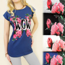 Großhandel Fashion & Accessoires: K378  Baumwollbluse,  TOP, FLOWERS & ...