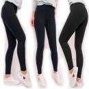 Leggings Cotton, Ladies Black, 2XL - 5XL, 5467