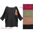 Women blouse, Oversize, Tunic, Silver 57, 5247