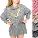 G245 Kiterjedt tunika, ruha, pulóver lyukakkal