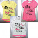 wholesale Childrens & Baby Clothing: D404 T-Shirt for  girls, printing, from 110-128