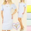 Großhandel Kleider: BI375 glamouröse DRESS, Halskette, SCHöNER ARM