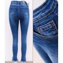 Großhandel Jeanswear: B16747 Damen Jeans, Skinny Pants, Hohe Taille