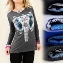 wholesale Shirts & Tops: K200 COTTON BLOUSE, TOP, PRINT: INDIAN SUN