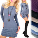 wholesale Dresses: 4216 Romantic  Dress, Tunic for Winter, Cashmere