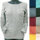 Großhandel Pullover & Sweatshirts: Klassischer Damenpullover, Daily Line, R133