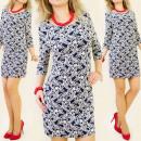 C1139 bel vestito, tunica, STILE TWIGGY, RETRO