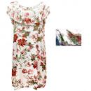 hurtownia Fashion & Moda: Letnia Sukienka z Falbanką, Kwiaty M-2XL, 6538