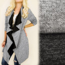 wholesale Pullover & Sweatshirts: C24137 Beautiful  Cardigan Oversize, Blezer, Sleeve