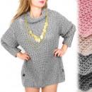 A899 Umfassende Damen Tunika, Kleid, Pullover, Löc
