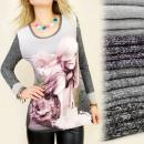hurtownia Fashion & Moda: C1135 BLUZKA,  TUNIKA, OBRAZKOWY FOTO NADRUK