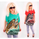 D1436 Loose  Oversize Tunic, African Zebras
