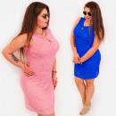 Großhandel Kleider: BI799 Pencil Plus Size Dress bis 54, Spitze