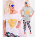 4420 Cotton Blouse, Plus Size, Golden Heart