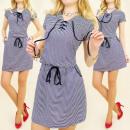 BI361 SPRING DRESS, TUNIC, lacing NECKLINE