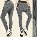 4030 LOOSE, SPORTS  PANTS BAGGY, oblique SLIDER