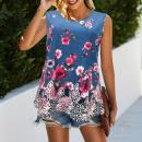 Großhandel Fashion & Accessoires: Frauenbluse, Sommeroberteil, Blumen M-4XL, 6215