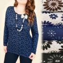 Großhandel Hemden & Blusen: C11335 Warme, lockere Bluse, Tunika, Schöne Wiese