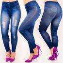 Großhandel Jeanswear: 4708 Leggings Jeans, schöne Löcher, hohe Taille