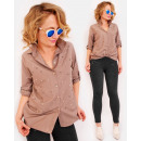 R29 Lovely Shirt Bluse mit genähten Perlen, BE