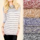 B16576 Lange und  warme Pullover, Tunika, gestreift