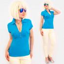 Großhandel Hemden & Blusen: 4584 Daily Bluse, Damen Top, Kragen & V-Aussch