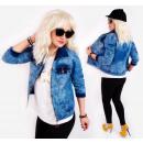 BI703 Damska Kurtka Jeans, Ramoneska, Spring Look
