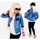BI703 Veste Jeans Femme, Ramones, Look Printemps