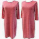 Großhandel Kleider: D4019 Kleid, Made In Poland, 44-52, Himbeere