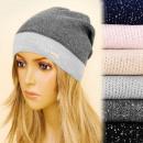 Großhandel Kopfbedeckung: 4160 Leichte  Kappe, Hut,  Silberfaden, ...