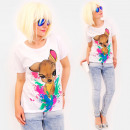 R89 Nice Women Top, Blouse, Colorful Fawn