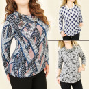 wholesale Shirts & Blouses: 4166 Loose Blouses, Tunics, Large Size, ...